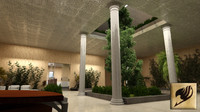 3ds max interior lobby entrance
