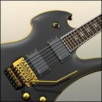 3d obj guitar mockingbird pro x