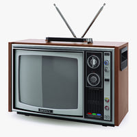 3d model tv sony trinitron kv-1300e