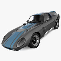 shelby daytona cobra 3d model