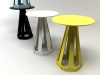 sixagon end table stool 3d 3ds