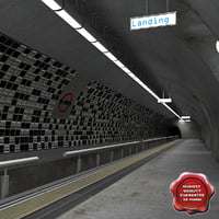 3d model of subway station