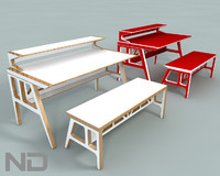 3d 3ds bench table