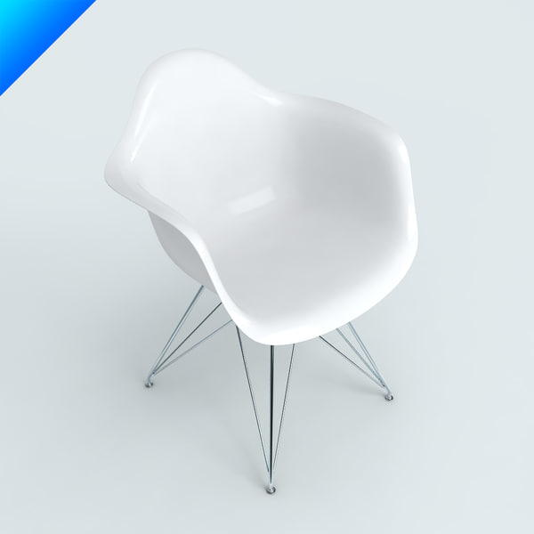 3d model plastic armchairs eames for Icon mobel eames
