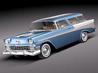 chevrolet nomad 1956 56 3d model