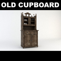 3d model old wooden cupboard