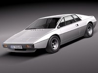 3d model esprit s1 sport car