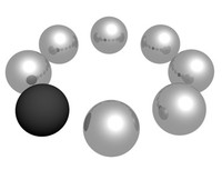 balls circle preloader 3d max