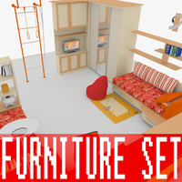 3d model kid s bedroom furniture