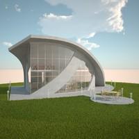 3d solar house model