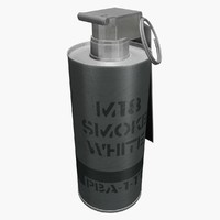 M18 Smoke Grenade | High Poly And Low Poly Models