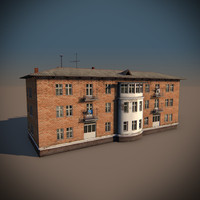 soviet apartment building 3d model