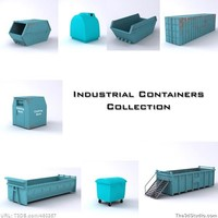industrial containers 3d model