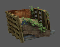 3d ready crate model