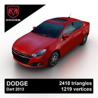 3d model 2013 dodge dart