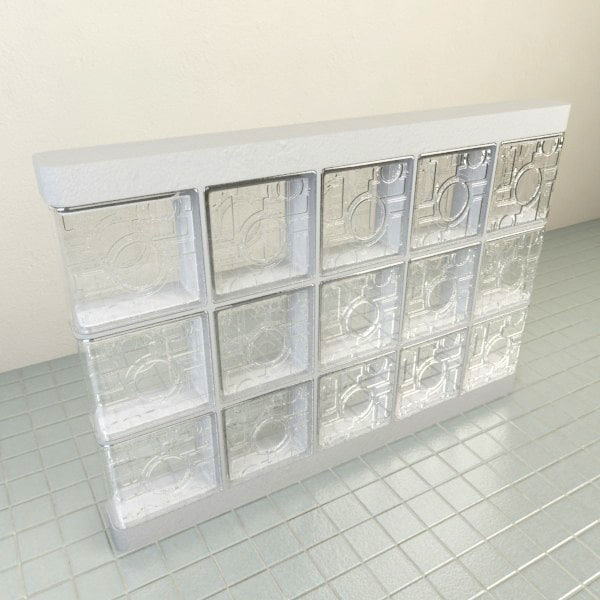 3d model glass blocks 1 - Glass Block 1... by A_Relevant