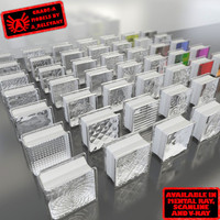3d model glass blocks 1