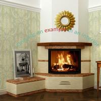 3d model fireplace 47