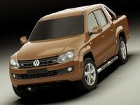 3d model amarok volkswagen truck