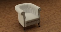 3dsmax chester chair