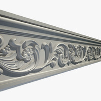 3d model decorate cornice ornament