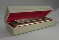 harmonica harp 3d model