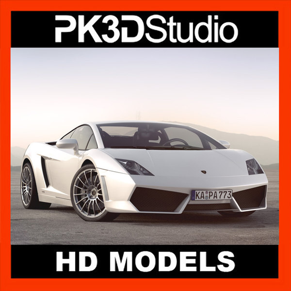 lamborghini gallardo car 3d model - Lamborghini Gallardo... by PK3DStudio