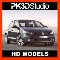 volkswagen golf car 3d 3ds