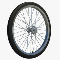 wheel rear tire bicycle 3d c4d