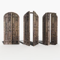 3d carved door model