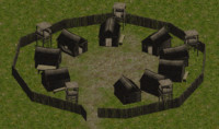 small medieval village pack 3d model