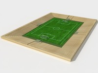 Soccer Field (low polygon)