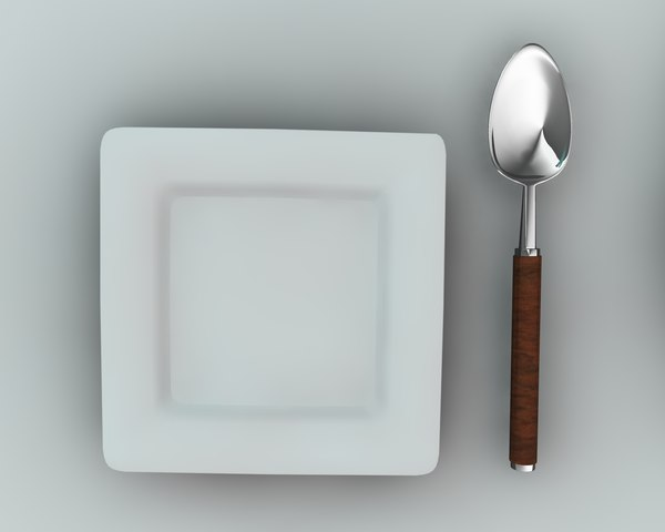 dining dishware obj - Knife plate fork Spoon... by samc4d