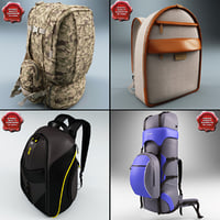3d model of backpacks v2