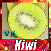 3d model photorealistic kiwi resolution