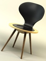 luna chair 3d model