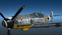 me109 fighter 3d lwo