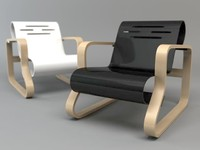 3ds chair armchair paimio