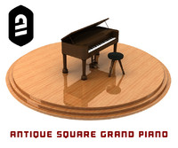 maya antique square grand piano
