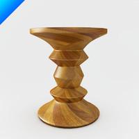 design stools vitra eames 3d model