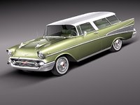 3ds max chevrolet nomad 1957 57