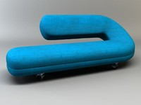 3d model lounge chaise cleopatra