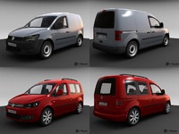 volkswagen caddy 3d max