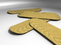 wood skateboard deck 3d blend