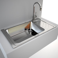 Modern Kitchen Sink karag sea + Tap gessi quadro
