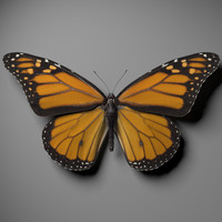 Monarch butterfly 3ds Max