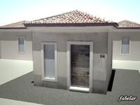 3d max italian suburban house