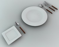 dining dishware obj
