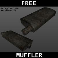 free muffler 3d model