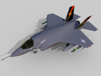 free lockheed martin f-35b lightning 3d model